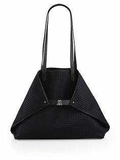 Akris   Ai Medium Techno Grid Shoulder Bag - Saks.com