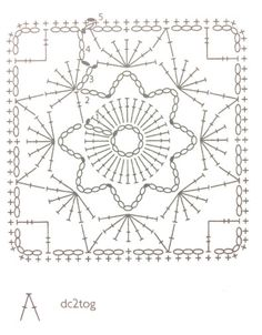 Esquema: rosetón de ganchillo. Caron International - Free Crochet Flower Blanket