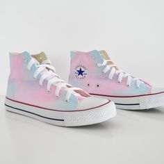 Diy tye dye converse easy to make with no mistake. Cant go wrong with these nad boys. Cotton Candy Halloween Costume, Candy Costumes, Halloween Dance, Cute Converse, Converse Sneakers, Vans Shoes, Tie Dye Vans, Tie Dye Shoes, Korean Shoes