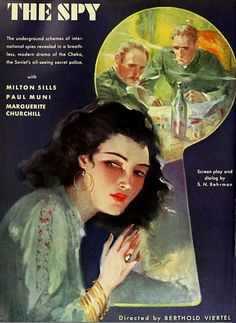 The Spy, 1930. #vintage #1930s #movies(MOVIES ALBERTINE MIGHT HAVE WATCHED)
