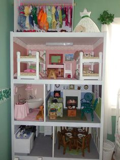 This is the almost finished version of the AG doll house that I built.