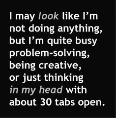 Yep, if only I could shut my mind down