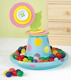 Flower Pot Candy BowlFlower Pot Candy Bowl how to
