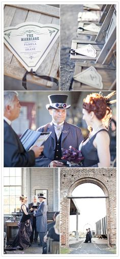 Victorian railroad museum wedding | http://www.100layercake.com/blog/2012/02/16/victorian-railroad-museum-wedding-pam-shane/