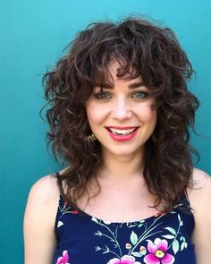 Top 10 Layered Curly Hair Ideas Layered Curly Haircuts, Curly Shag Haircut, Haircuts For Curly Hair, Curly Bob Hairstyles, Hairstyles With Bangs, Chic Haircut, Curly Hair With Bangs, Curly Hair Cuts, Short Curly Hair