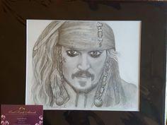 Original drawing of Johnny Depp as Jack Sparrow Nail Art Printer, Jack Sparrow, Johnny Depp, The Originals, Portrait, Drawings, Artwork, Ebay, Work Of Art