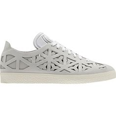 12932cdda0bb4 Adidas Women s Gazelle Cutout Shoes in White Cream White