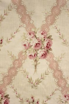 Antique French Printed Cotton Pink Floral Flowers c1910 Cutter Cotton | eBay