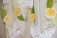 Yellow Wildflower Rustic Banner on Etsy, $15.00