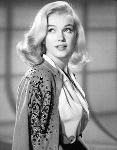 """Marilyn tries a different hairstyle for her role in """"The Misfits"""", 1959-60.   by skorver1"""