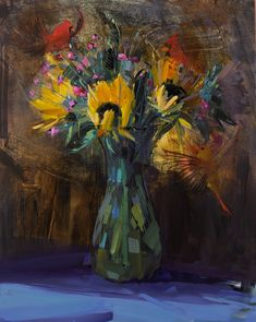 amy brnger art and paperworks. Flower, landscape, food and interior oil paintings. Flower calendars and note cards. Sunflowers And Roses, Yellow Daisies, Orange Roses, Purple Roses, Lilac Bouquet, Mother's Day Bouquet, October Bouquet, Purple Mums, Roses Valentines Day