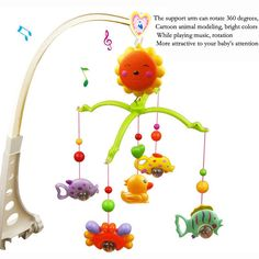 New Baby Toys Musical Crib Mobile Bed Baby Rattle Rotating Bracket Toys For 0 1 Years Old Newborn Kids Christmas Gift-in Baby Rattles & Mobiles from Toys & Hobbies on Aliexpress.com | Alibaba Group