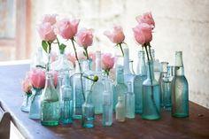 Tafeldecoratie Cool Ideas, Bach Flowers, Wedding Flowers, Wedding Colors, Pink Roses, Pink Flowers, Pale Pink, Pink Blue, Blue Green