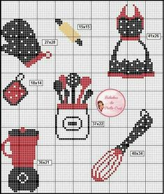 Good Absolutely Free Cross Stitch kitchen Concepts Cross-stitch is an easy kind of needlework, compatible towards the fabric there for stitchers today. Cross Stitch Fruit, Cross Stitch Kitchen, Cross Stitch Bookmarks, Mini Cross Stitch, Cross Stitch Cards, Cross Stitch Borders, Cross Stitch Alphabet, Cross Stitch Designs, Cross Stitching
