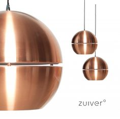 Copper 70ies retro hanglamp zuiver | Lampen - Retro verlichting | Design meubels, Retro verlichting & cadeaushop, Space Age new vintage