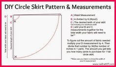 DIY Circle Skirt Pattern & Measurements PERFECT for tulle maxi skirt!!