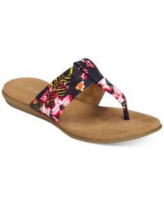welcome the season starting with your toes. the softly-gathered upper and rolled thong sits comfortably between your toes and offers a warm-weather look you can wear right now. the Memory foam footbed