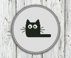 Black Cat Counted Cross Stitch Pattern PDF by CrossStitchShop