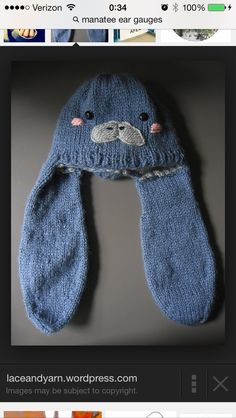 Can someone show me how to manatee hat