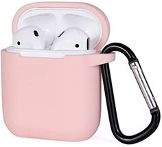 Amazon.com: Miso Compatible for AirPods Case with Keychain, Shockproof Protective Premium Silicone Cover Skin for AirPods Charging Case 2 & 1 (AirPods 1, Pink): Home Audio & Theater