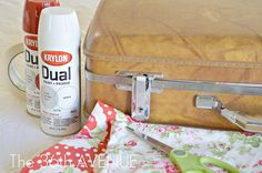 The 36th AVENUE | Mod Podged Fabric Suitcase! | The 36th AVENUE