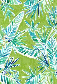TROPICAL GREENERY Barbarian print    Click through to shop this print and download a phone wallpaper.   #greenery #pantone #jungle #tropical