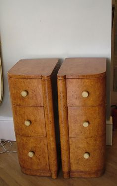 1930s art deco cabinets/chests, pair