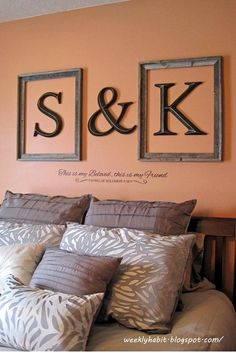 Delicieux 40 Creative Monogram Wall Art Ideas
