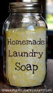 Homemade laundry soap