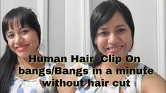 Human Hair  Clip On  bangs/Bangs in a minute without hair cut/DeeThens b... Black Hair Pieces, Hairstyles With Bangs, Hair Cut, Hair Clips, The Creator, Bang Hairstyles, Hair Rods, Hair Cuffs, Haircuts With Bangs