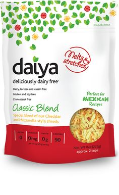 Daiya dairy-free products and flavors