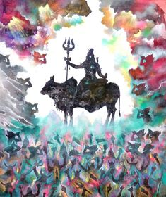 Buy Lord Shiva Vivah, an Acrylic Painting on Canvas, by Sandeep Rawal from India, For sale, Price is $1244.09, Size is 40 x 32 x 1 in.