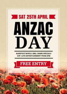 Create an event flyer or poster for Anzac Day or Australia Day without the need for a graphic designer. Check out the huge range of professionally pre-designed posters, flyers and social media graphics that you can update yourself, in minutes. Tool Design, Diy Design, Aus Day, Bbq Drinks, Poppy Images, Anzac Day, Australia Day, Drink Specials, Drops Design