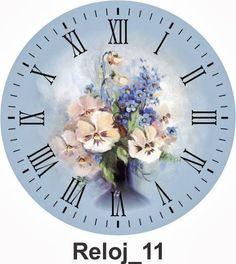 Clocks – Decor : Clock -Read More – - Clock Craft, Diy Clock, Clock Decor, Paper Clock, Paper Art, Paper Crafts, Decoupage Vintage, Decoupage Paper, Clock Face Printable