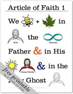 A Year of FHE // Article of Faith memorization poster No. 1 - These are so great for Primary, Family Home Evening, or Activity Days! Primary Activities, Church Activities, Activity Day Girls, Activity Days, Family Home Evening, Family Night, Fhe Lessons, Lds Primary Lessons, Primary Singing Time