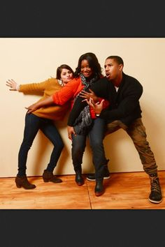 Melonie Diaz, Octavia Spencer and Michael B. Jordan photographed by Larry Busacca during the 2013 Sundance Film Festival