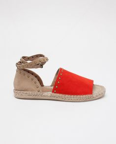 RAYE Deb Espadrille Sandals in Tomato & Tan