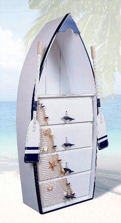 Nautical home decor dresser.