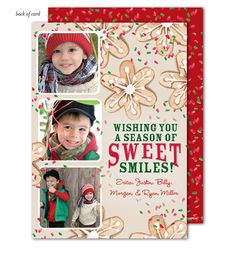 Holiday Cookies Photo Card by Bonnie Marcus