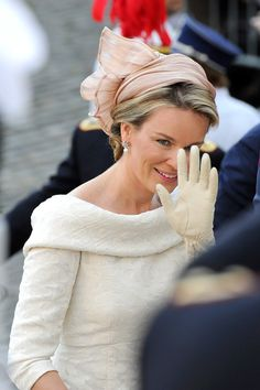 Princess Mathilde - Abdication Of King Albert II Of Belgium, & Inauguration Of King Philippe on 21 July 2013