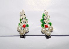 Christmas Vintage Earrings by ChristmasVintage on Etsy, $9.50