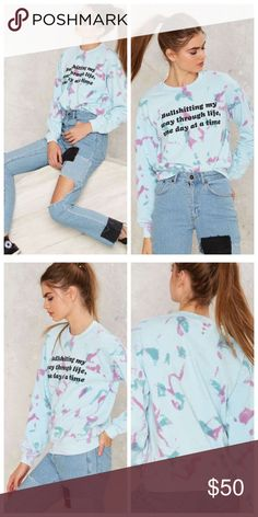 Jac Vanek Bullshitting Sweatshirt ✔️NWT ✔️ Fast response  ✔️ 15% off bundles 🚫 No low ball offers  🔹 Brand is Nasty Gal ✔️Great quality of material  🔹This Item may or may not include a tag but is brand new Nasty Gal Sweaters Crew & Scoop Necks