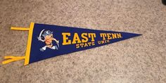 Like new felt pennant. East Tennessee State University from East Tennessee State University, Industrial Bedroom Design, High School, Decals, Felt, College, Logos, Classic, Derby