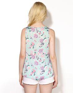 FLORAL CAMILLA TANK - FLORAL CAMILLA TANK - Printed Fashion Tops