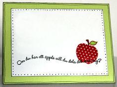 Camilla hearts Gummiapan: 2012- Om du har ett äpple...