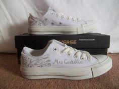 Wedding converse monochrome and silver