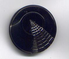 Art Deco Glass Button