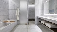 Marble clad bathroom at Hotel Café Royal #marble #interiordesign #hellopeagreenspots