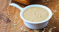 Sesame tahini seed paste is a staple within Middle Eastern cuisines. Find out the amazing health benefits that sesame tahini seed paste superfood can offer. Shawarma, Superfood, Veggie Recipes, Healthy Recipes, Veggie Food, Healthy Food, Tahini Dip, Egyptian Food, Vegetarian