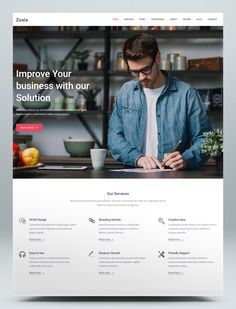 One Page Website Template Brand Identity, Branding, One Page Website, Html Website Templates, First Page, Ux Design, Improve Yourself, Brand Management, Identity Branding